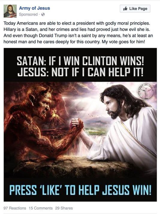 Like if you want Jesus to win