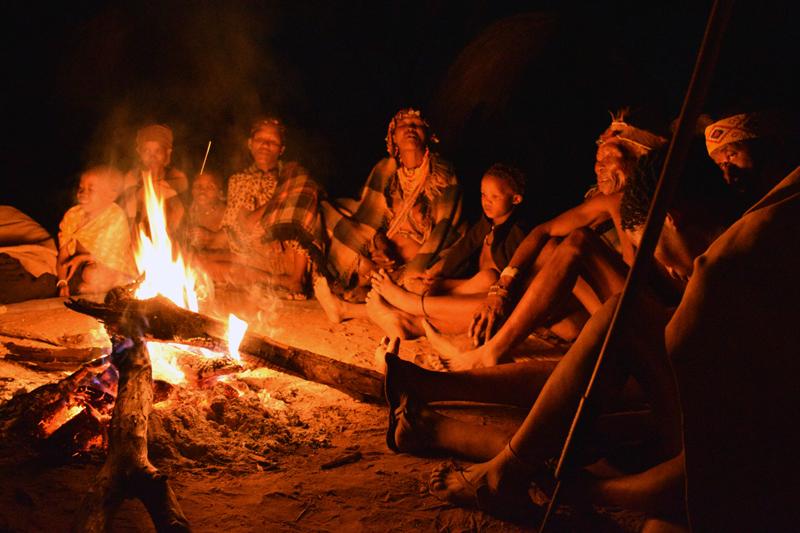 bushman-campfire