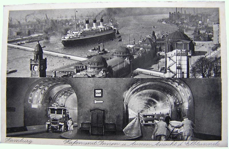 Hamburg Harbor and Elbe Tunnel