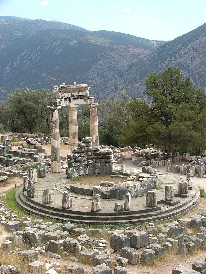 Delphi. Image source Wikipedia commons. Credit Kufoleto - Antonio De Lorenzo and Marina Ventayol