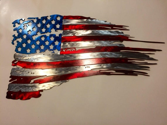 Tattered American Flag